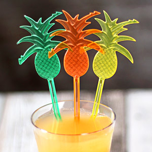 Pineapple Cocktail Stirrers