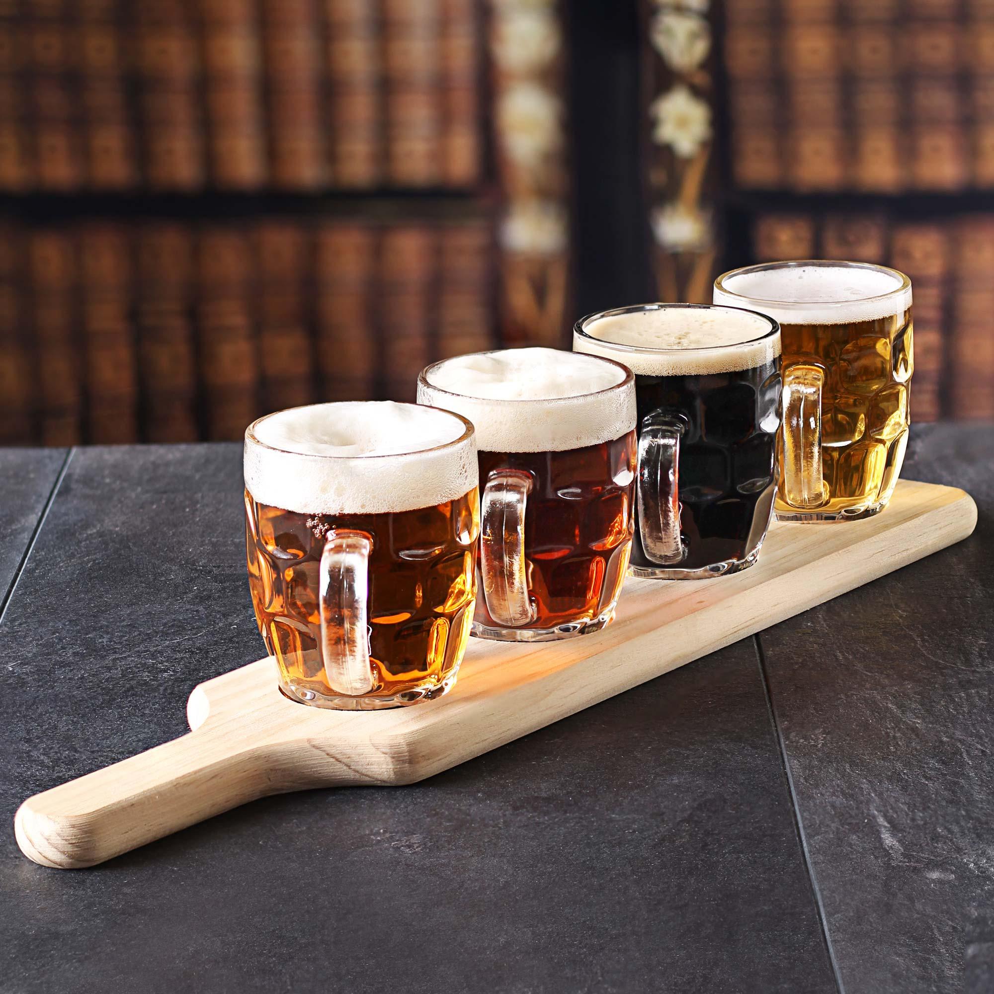 Craft beer flight 5 piece tasting set for Take craft beer back