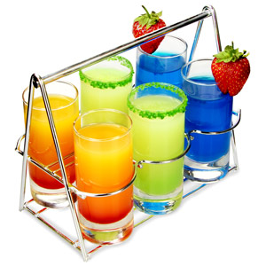 Shot Basket 7 Piece Tasting Set