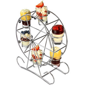 Ferris Wheel 7 Piece Appetiser Set with Shot Glasses