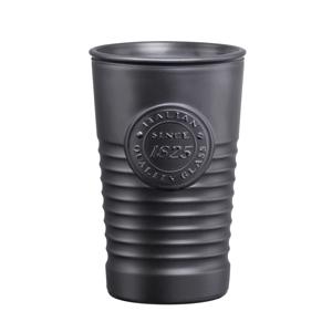 Officina 1825 Metallic Water Glasses Charcoal Grey 11.4oz / 325ml