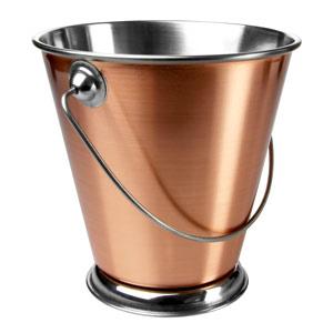 Copper Food Presentation Bucket 12cm