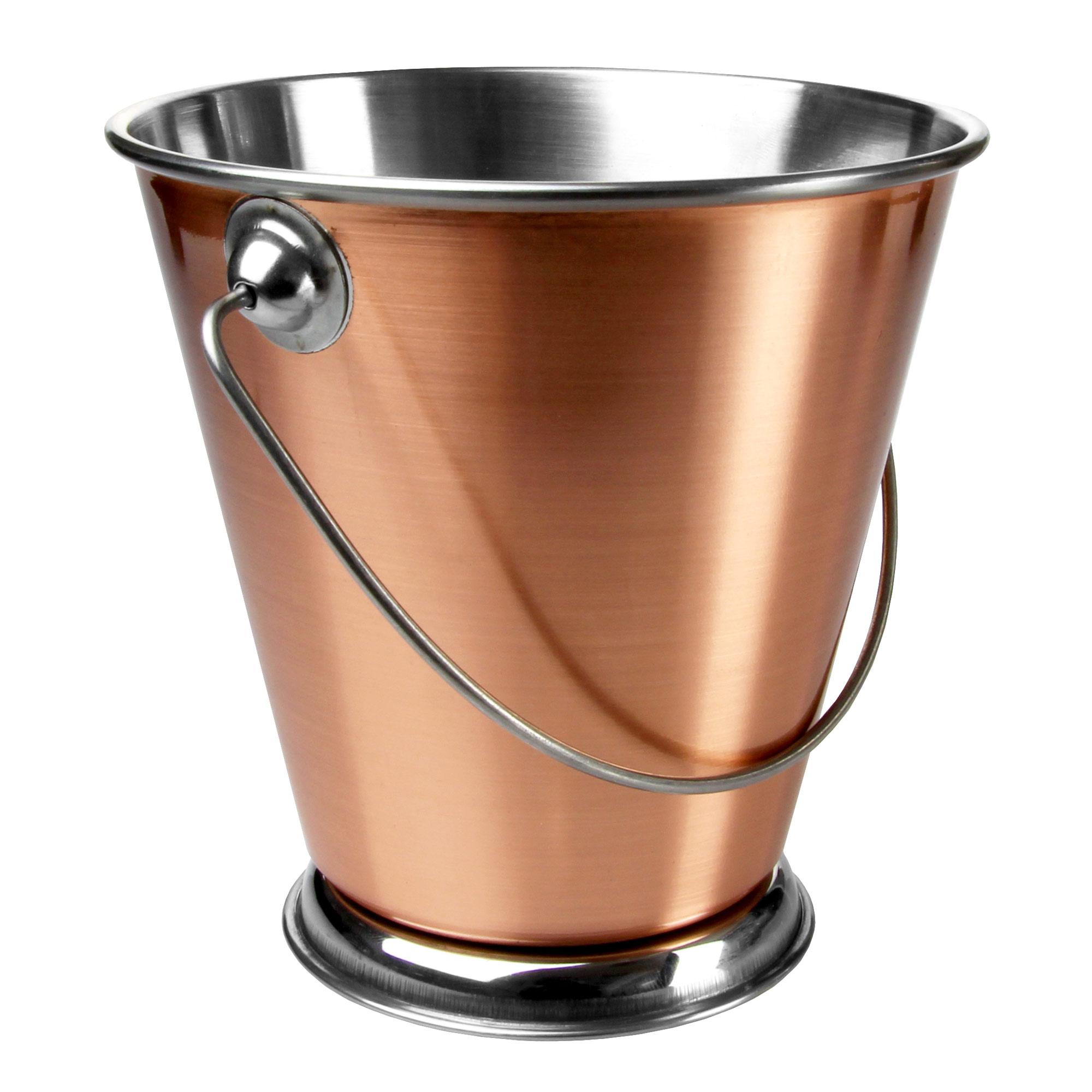 Mini Copper Pail Food Presentation Bucket With Handle 12cm