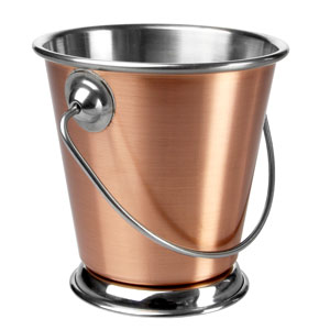 Copper Food Presentation Bucket 9cm