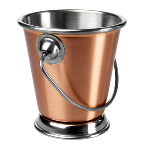 Copper Food Presentation Bucket 7cm