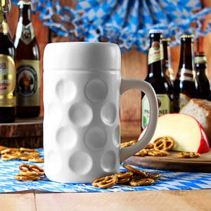Munich Ceramic Dimpled Beer Stein 35oz / 1ltr