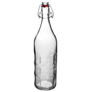 Moresca Glass Bottle with Clip Top Lid 1ltr