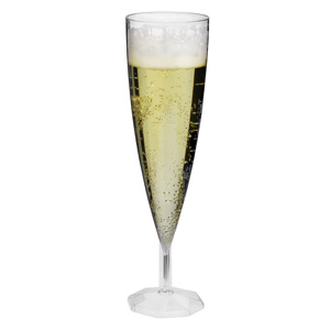 Disposable One Piece Champagne Flutes 5oz / 140ml