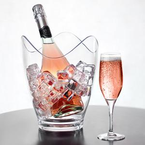 Glacier Acrylic Curve Wine Bucket