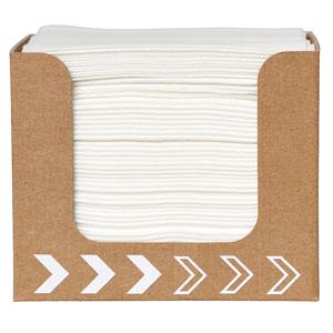 Cardboard Napkin Dispenser with Dunisoft Napkins