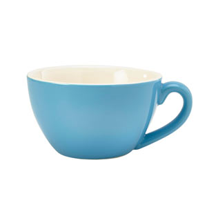 Royal Genware Bowl Shaped Cup Blue 12oz / 340ml