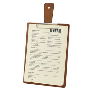 Genware Wooden Paddle Menu Board A4