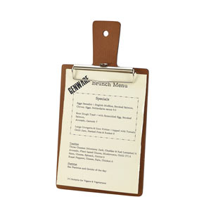 Genware Wooden Paddle Menu Board A5