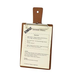 Genware Wooden Paddle Menu Board A5