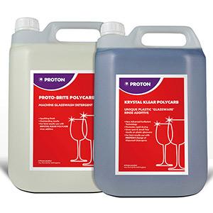 Proto-Brite Polycarb Detergent & Krystal Klear Polycarb Rinse Aid 5ltr
