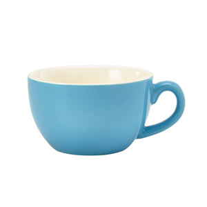 Royal Genware Bowl Shaped Cup Blue 8.75oz / 250ml