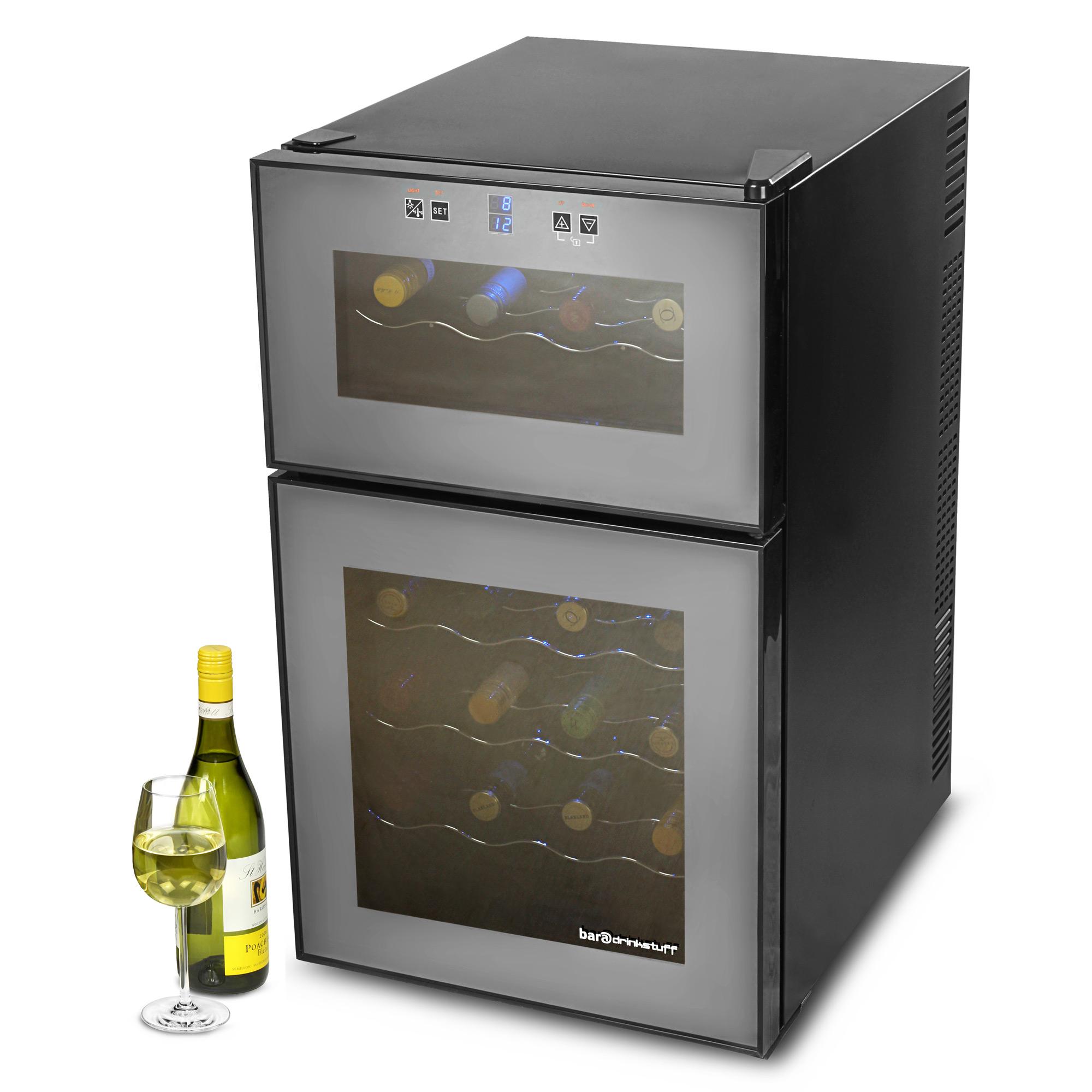 vinotech 24 bottle dual zone wine cellar