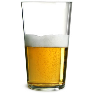 Conique Pint Glasses CE 20oz LCE at 10oz