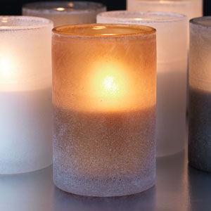 Duni Ice Candle Holders Dark Honey