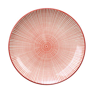Tao Plate Red 19cm