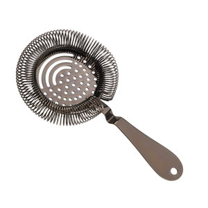 Gun Metal Premium Sprung Julep Cocktail Strainer