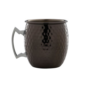 Gun Metal Black Hammered Barrel Mug 19.25oz / 550ml
