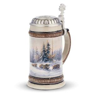 Muhleck Wild Boar Ceramic Beer Stein 17.6oz / 500ml