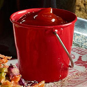 Genware Stainless Steel Miniature Bucket Red 4.5cm / 50ml