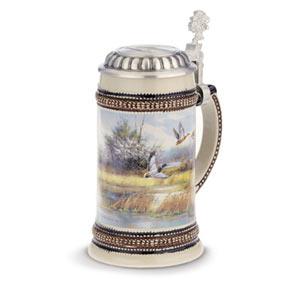 Muhleck Wild Duck Ceramic Beer Stein 17.6oz / 500ml