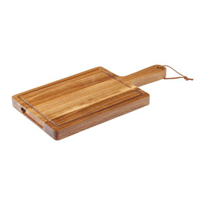 Acacia Chicago Handled Board with Leather Strap 24 x 18cm