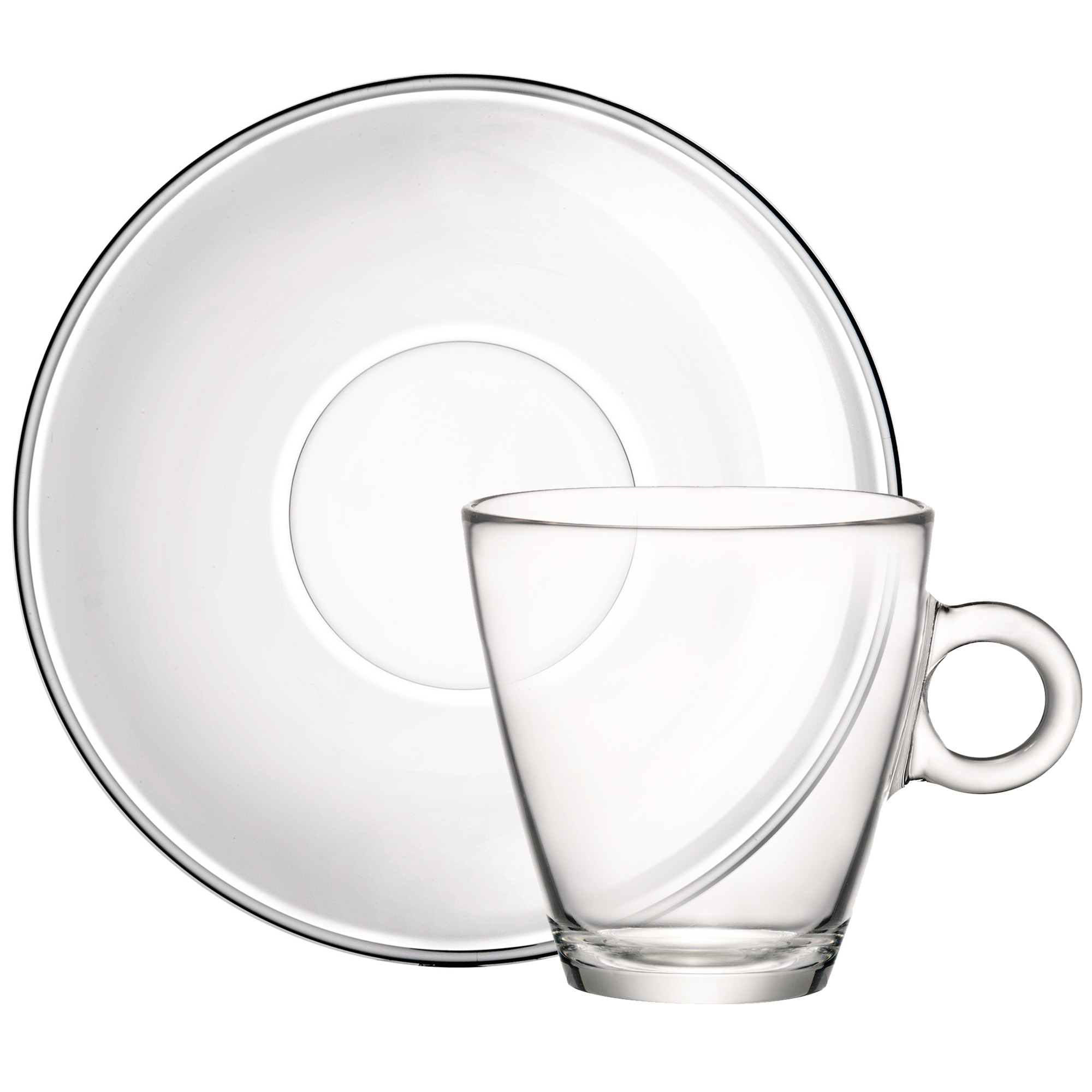 Easy Bar Glass Tea Cup And Saucer 320ml At Drinkstuff