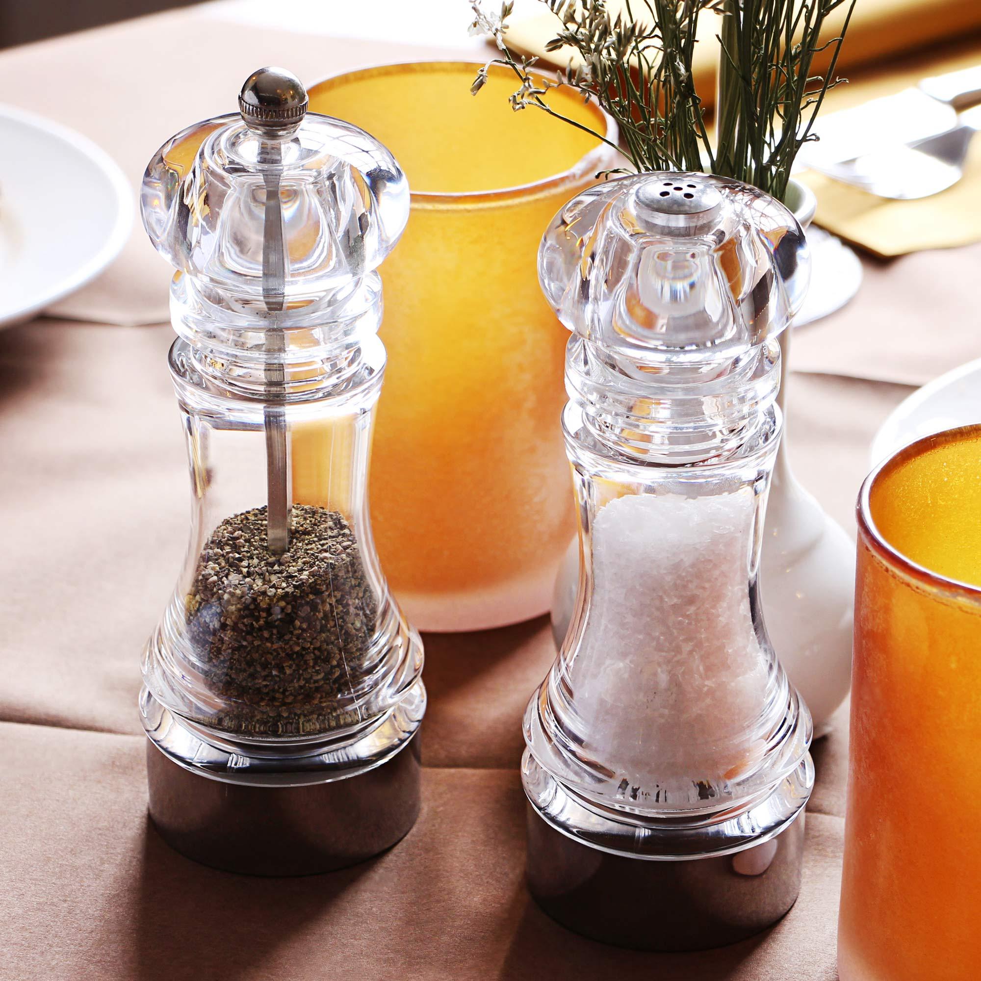 Acrylic Pepper Mill Salt Shaker Set Salt Grinder Pepper Grinder Buy At Drinkstuff