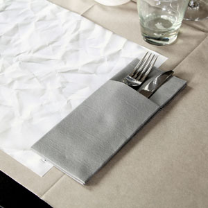Duniletto Napkin Pockets Granite Grey 40 x 48cm