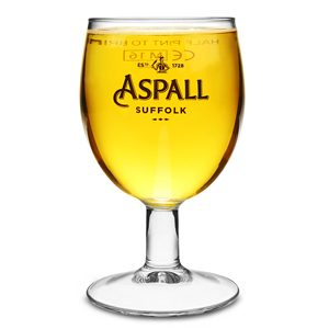 Aspall Cider Stemmed Half Pint Glasses CE 10oz / 285ml