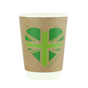 Green Britain Double Walled Hot Drinks Cups 12oz / 340ml