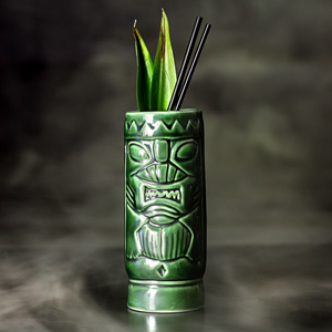 Ceramic Green Tiki Mug 10.5oz / 300ml
