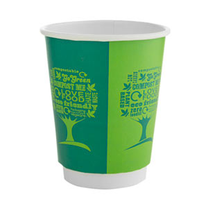 Green Tree Double Walled Hot Drinks Cups 8oz / 230ml
