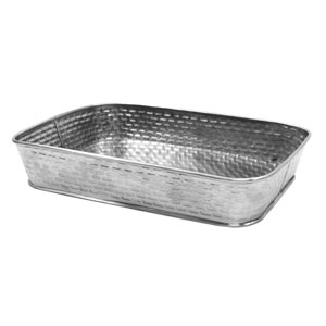 Brickhouse Stainless Steel Rectangular Diner Platter 24.5cm