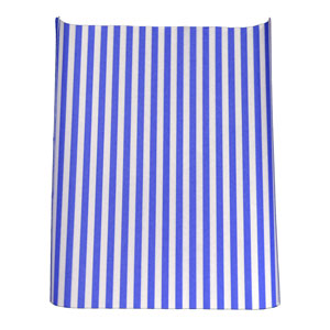 Blue Striped Greaseproof Burger Wrap 325mm x 255mm