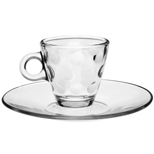 Dots Glass Espresso Set 3.5oz / 100ml