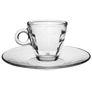 Cube Glass Espresso Set 3.5oz / 100ml