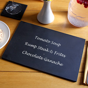 Chalkboard Dining Placemats 20 x 30cm