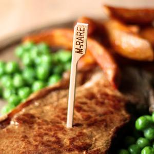 Bamboo Steak Picks 3.5inch Medium Rare