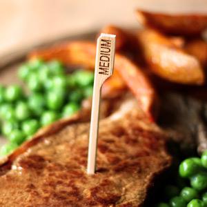 Bamboo Steak Picks 3.5inch Medium
