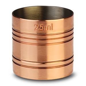 Copper Thimble Bar Measure 25ml
