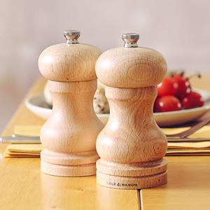 Cole & Mason Beech Capstan Pepper Mill