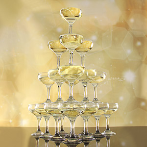 City Champagne Tower Set