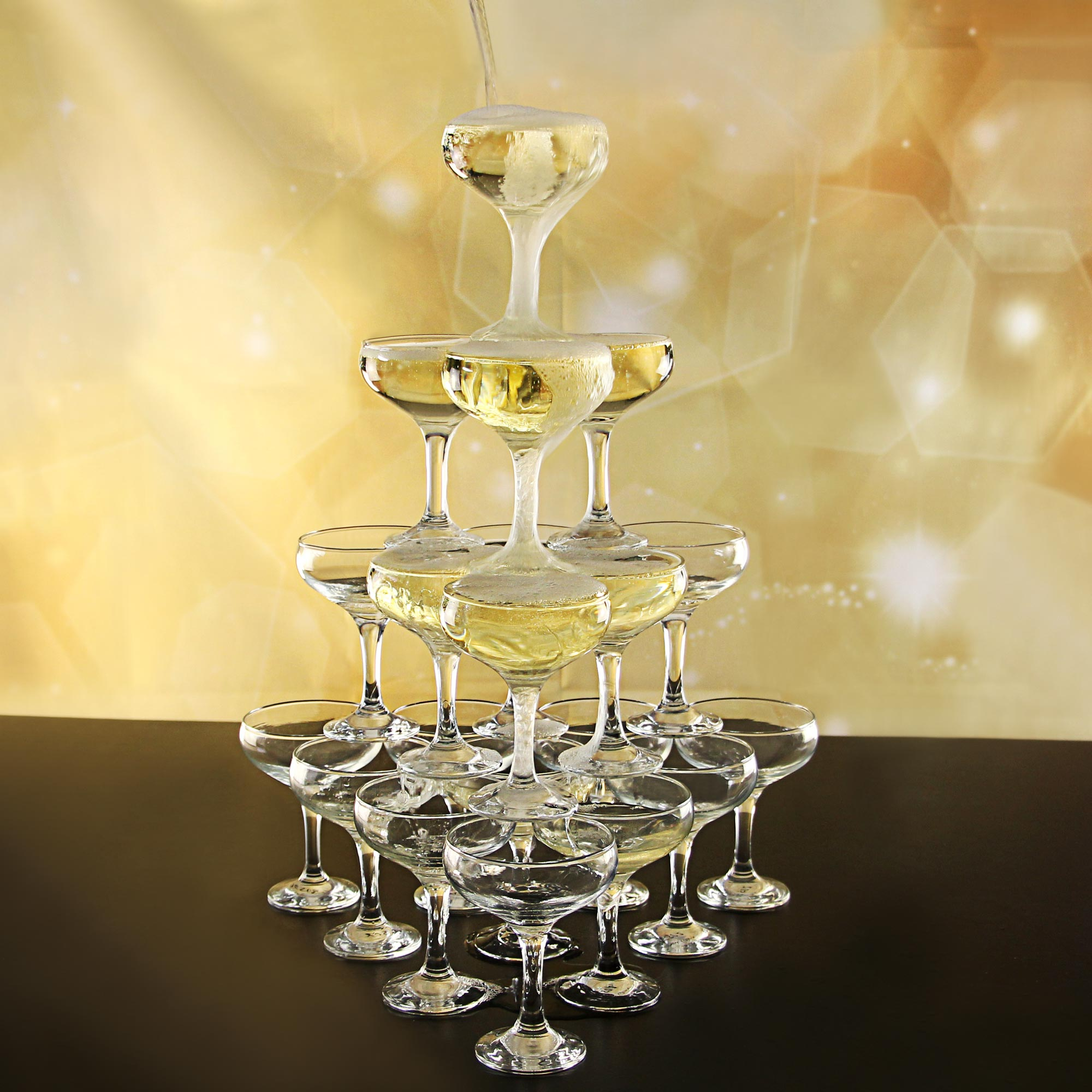 Essence Champagne Tower Set At Drinkstuff