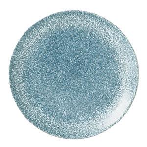 Studio Prints Raku Coupe Plate Topaz Blue 8.67inch / 21.7cm