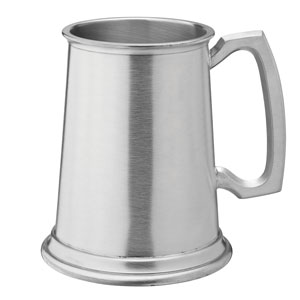 Albany Brushed Pewter Tankard CE 20oz 580ml